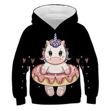 XINYOU 3D малышей Единорог Одежда для девочек детские толстовки с капюшоном с принтом для подростков, одежда для маленьких девочек, толстовка с ...