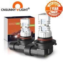 CNSUNNYLIGHT 2pcs LED רכב אור H11 H8 ערפל מנורות H7 H4 9005 HB3 9006 HB4 בשעות היום ריצת אורות הפיכת חניה נהיגה הנורה 12V