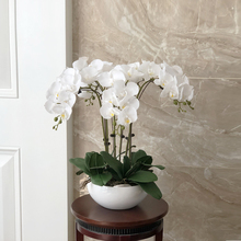 Орхидея на ощупь, латексная силиконовая композиция для больших искусственных орхидей, большой размер, Роскошный домашний декор, без вазы, 1 ...