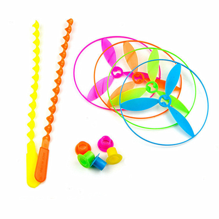 Push flying saucer Flying Fairy Educational and stress-reducing children's toys Plastic bamboo dragonflies Hot toys outdoor toys
