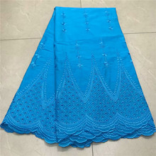 High Quality african Swiss Voile Lace 2019 African Polish Cotton Fabric For men and women  nly1-1007