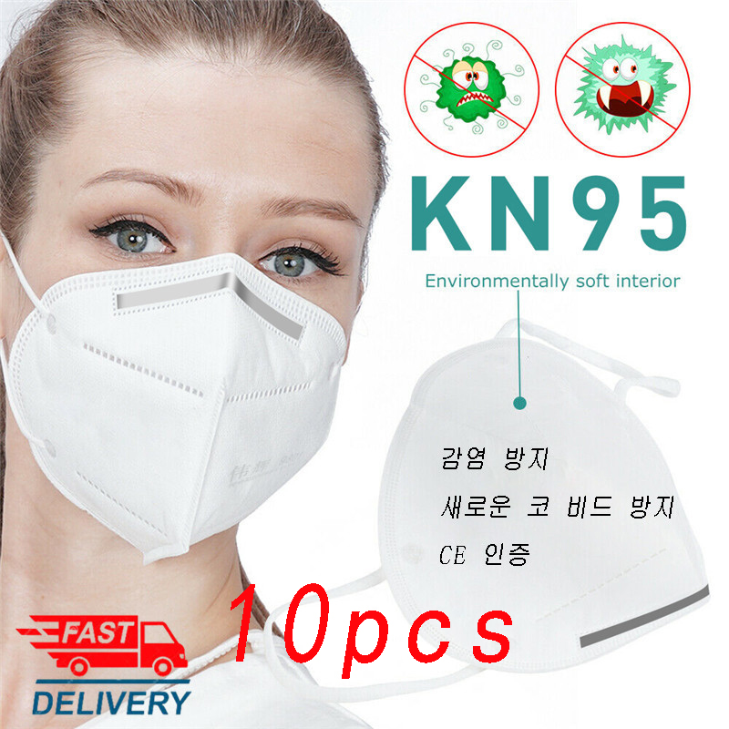 N95 Mask CE Certificate Safety Protective Filters Anti Dust Fog And Breathable KN95 Masks Respirator PM2.5 FFP2 Fast Delivery