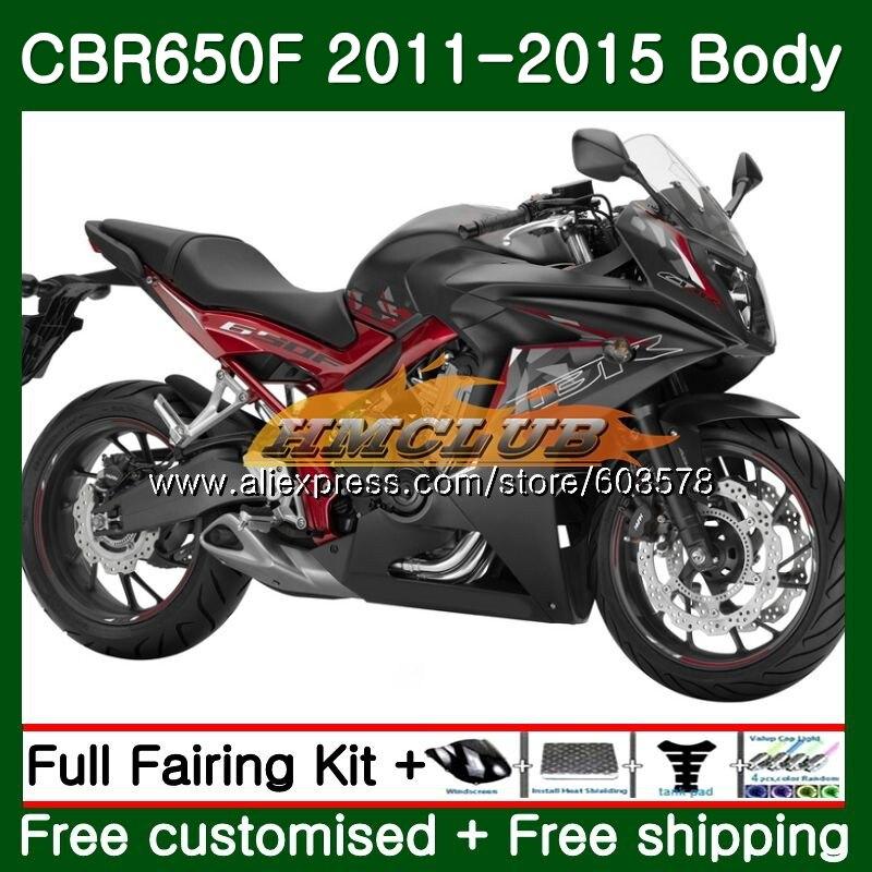 CBR-650F Pour HONDA CBR 650F 650 F 2011 2012 2013 2014 2015 130CL. 11 Plat noir CBR650 F CBR-650 CBR650F 11 12 13 14 15 Carénage