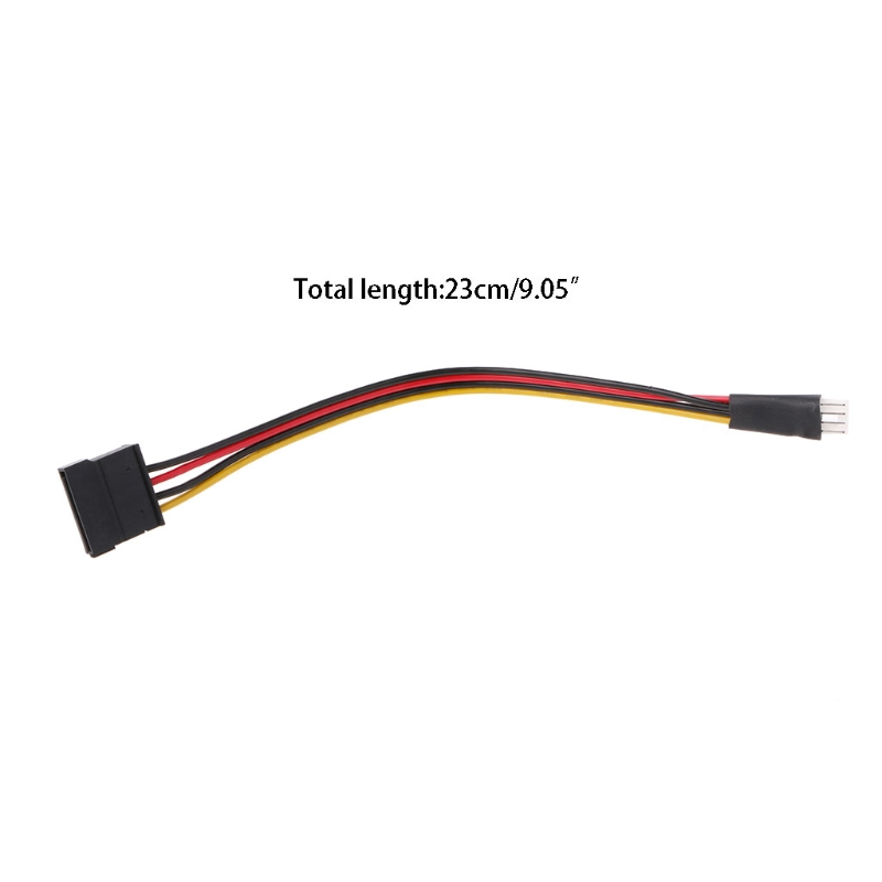 4-Pin FDD Floppy Male To 15-Pin SATA Female Converter Adapter Power Cable Cord H37E