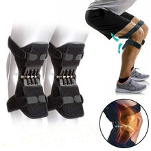 Cintas bidirecionais ajustáveis da força da mola da recuperação das almofadas de apoio da junção do joelho da perna de zity para o alívio da dor articular