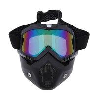 Abnehmbare Motorrad Helm Gesicht Maske Winddicht Staubdicht Brille
