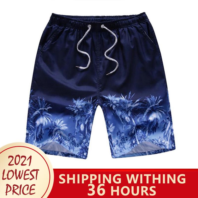 Summer Quick Dry New Men's Beach Shorts Summer Sports Board Print Pants Casual Fashion Swimming Shorts Oversized шорты мужские