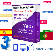 Stable IP TV 12months 2 devices 3 devices HD IP TV Support A