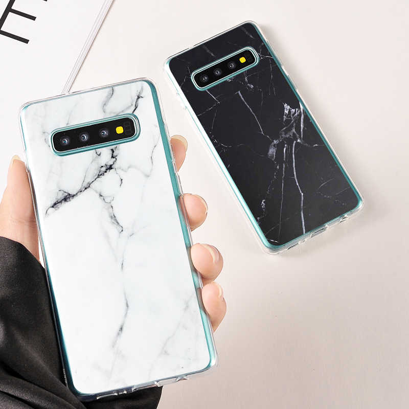 Marble Geometric Soft TPU Phone Case Coque For Samsung Galaxy S8 9 Plus S7 Edge Cases Silicone Phone Cover For Samsung Note 8