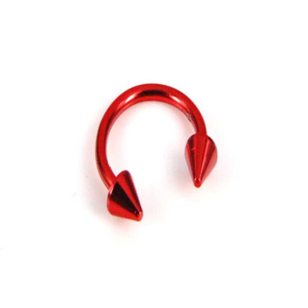 1X נירוסטה האף טבעת פירסינג גוף תכשיטי פרסת האף פירסינג מחץ שפתיים טבעת דק כירורגית האף שפתיים פתוח חישוק טבעת