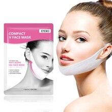 EFERO נשים להרים V פנים סנטר מסכות הרמת הרזיה הלחי חלק קמטים קרם פנים צוואר מסכות מתקלפים תחבושת עור טיפול