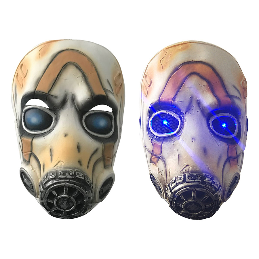 2019 Game <font><b>Borderlands</b></font> 3 Psycho Cosplay Full Face Latex Mask Halloween Cosplay Props LED/No LED 2 Types Wholesale image