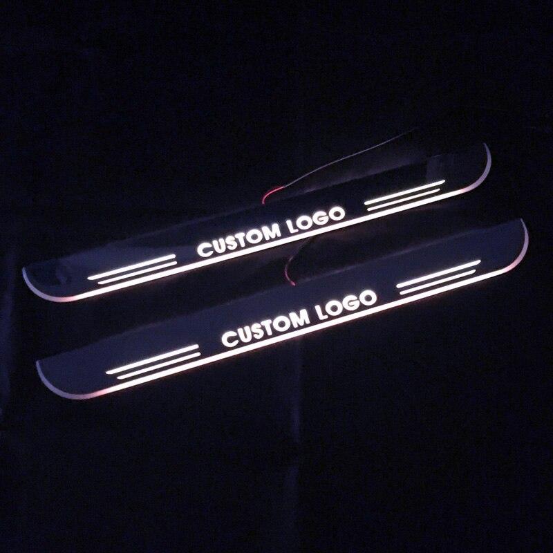 Seuil de porte mobile Led pour Audi A3 S3 berline 2003-2019 plaque de seuil de porte dynamique doublure plate superposition débit/lumière fixe, 4 pièces