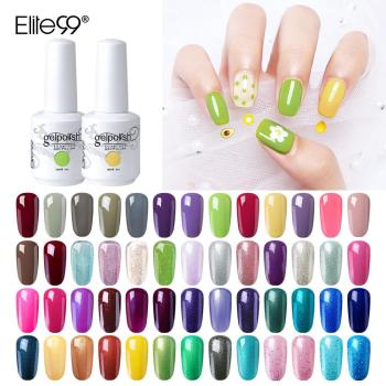 Elite99 15ml Gel Nagellack Glitter Für Maniküre Nail art Semi Permanent Emaille UV LED Lampe Nagel lacke Basis top Coat Gel