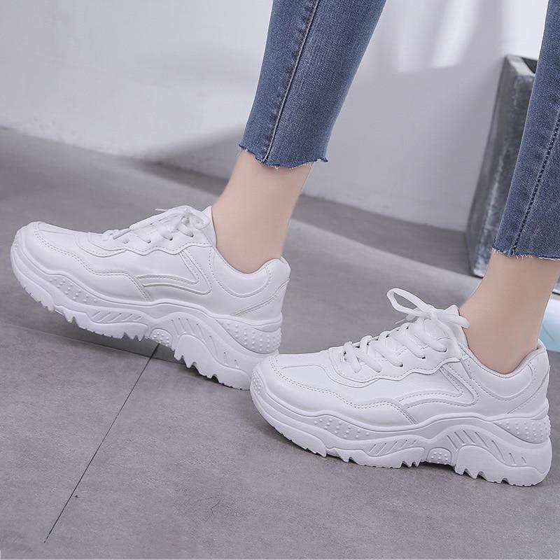 Size41 42 scarpe di lusso delle donne designer piattaforma scarpe da ginnastica bianche zeppe scarpe per le donne signore scarpe casual zapatillas chunky mujer