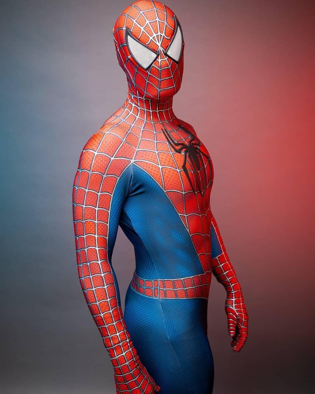 Classic Raimi Costume Cosplay Superhero Zentai Bodysuit 3D Print Jumpsuit Halloween Costume Classic Raimi  Costume