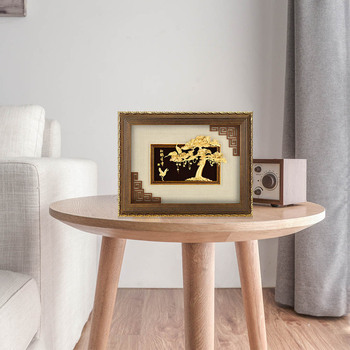 Asklove 3D Pine tree Wall art pictures 24K Gold Leaf painting Creative send elder birthday gifts wall pictures Home decor Crafts