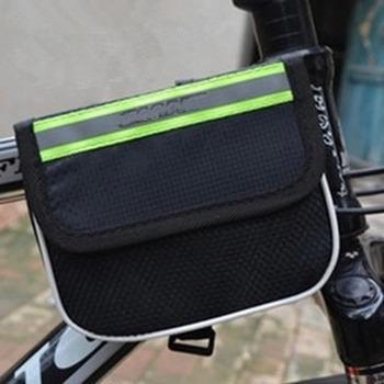 Mountain bike hard shell bag increase three-in-one upper tube bag front beam bag saddle bag riding equipment accessories tanie i dobre opinie NYLON Z pokrywką