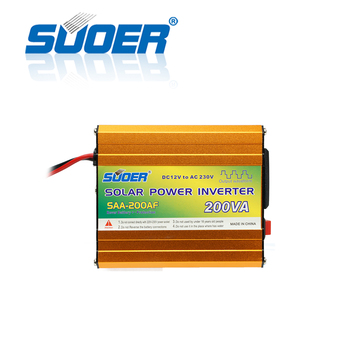 Suoer【 Modifizierte Sinus Welle Inverter 】 12V 230V 200VA modifizierte sinus welle inverter (SAA-200AF) image