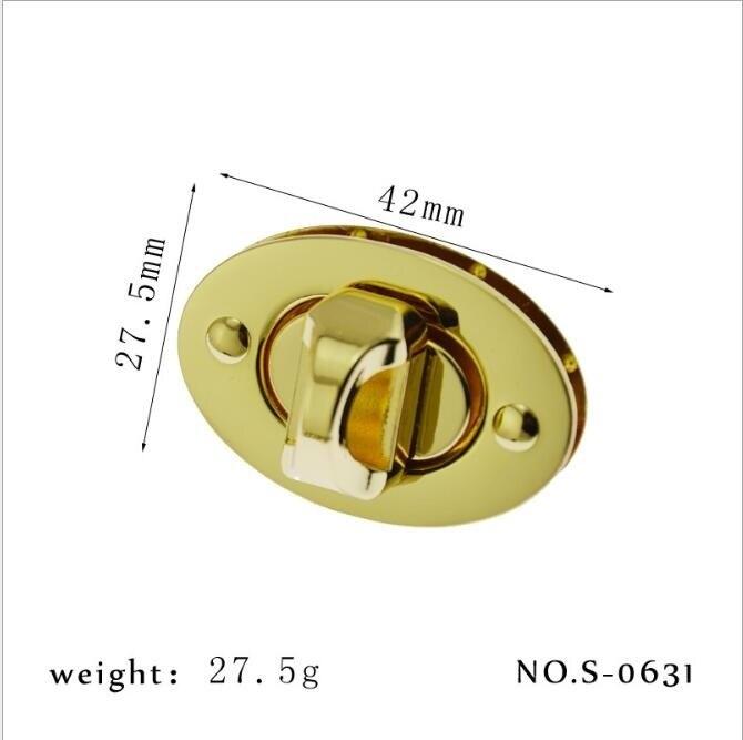 (10 Pcs / Lot) Handbags Bag Hardware Accessories High-grade Round Handbag Twist Lock Metal Accessories