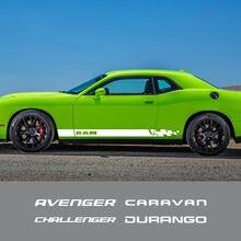 2 sztuk drzwi samochodu boczna naklejka dla Dodge JOURNEY CARAVAN ładowarka RAM CHALLENGER kaliber AVENGER DART DURANGO NITRO Auto akcesoria
