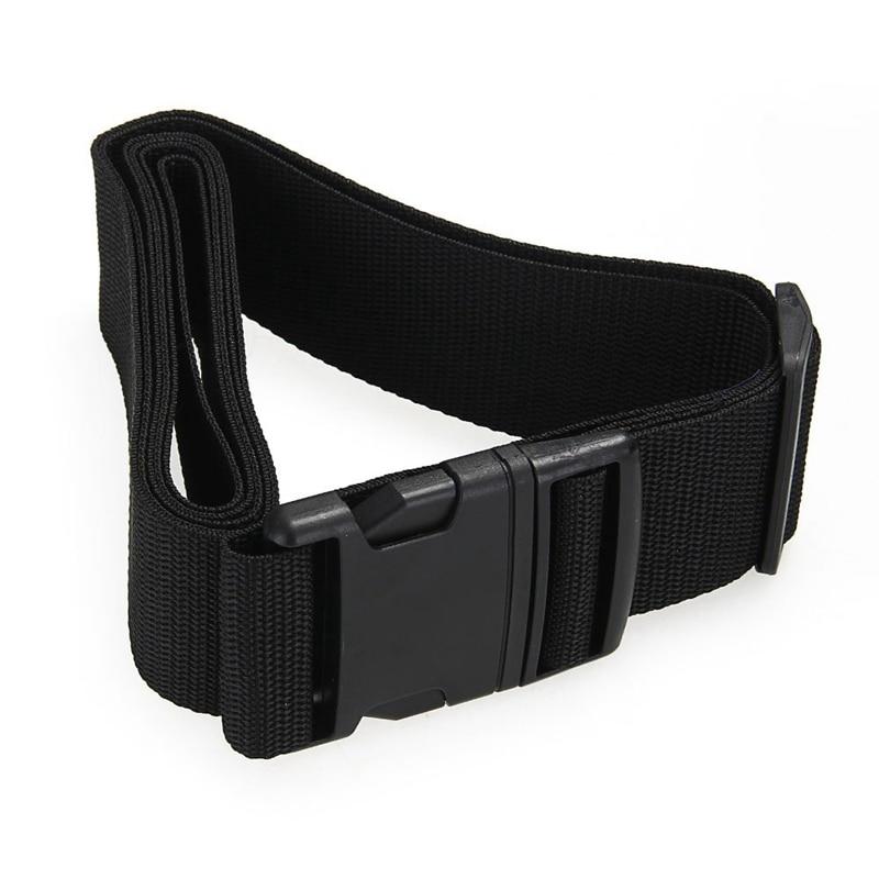 Luggage Belt Strap Belt Cord Rope Black For Suitcase Travel Bag 2M