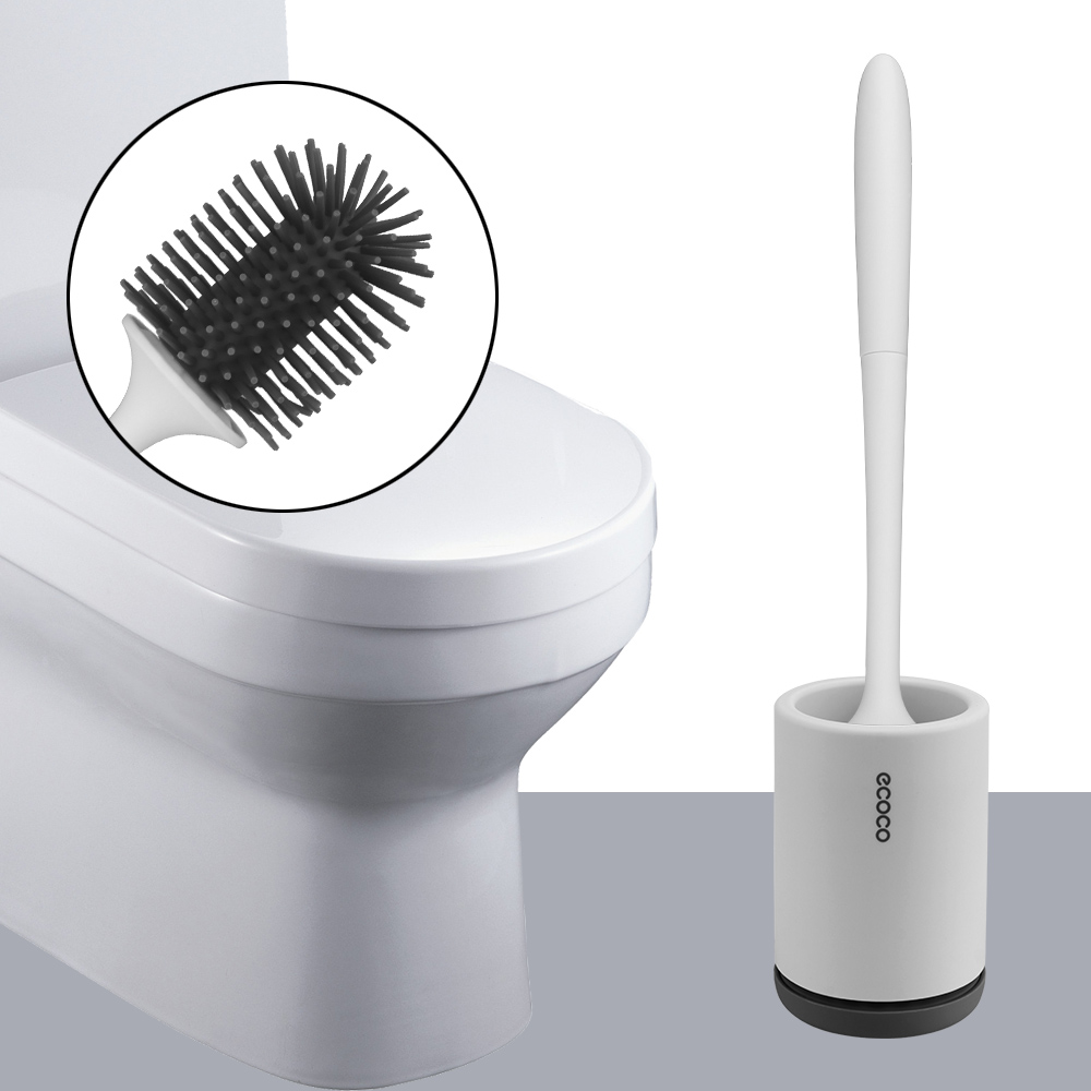WC Accessories Floor Standing Wall Mounted With Holder Handle Soft Bristles Bathroom Cleaning Set Toilet Bowl Brush TPR Silicone