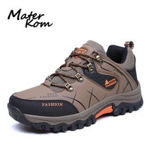 2019 New Waterproof Hiking Shoes Men Large Size Non-Slip Woodland