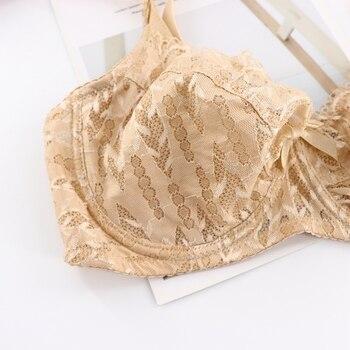 Women's Lace Underwire Minimizer Bra Sexy Underwear Bras 1