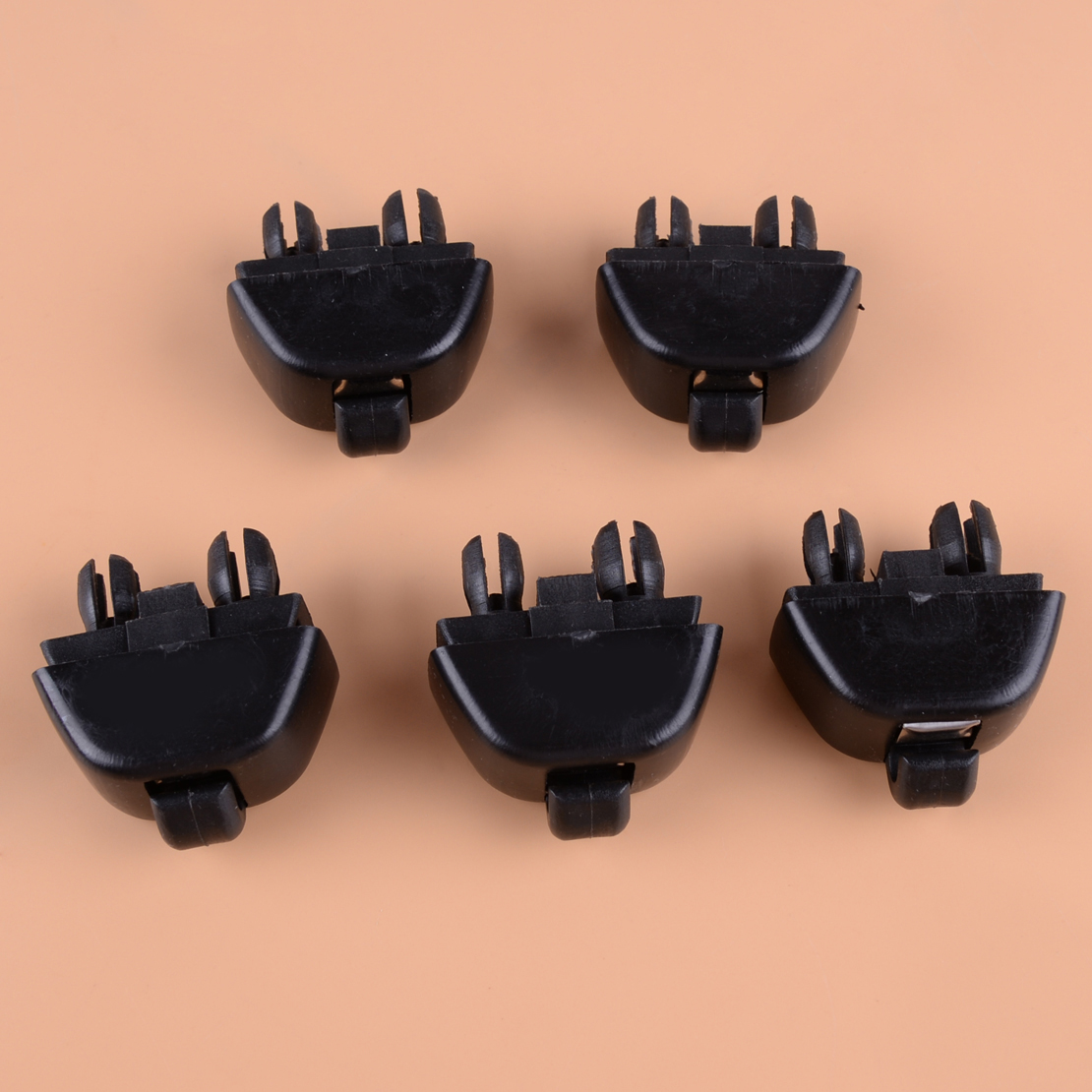 CITALL 5Pcs Black Car Inner Sun Visor Hook Clip Fit for Audi A6 C6 2004 2005 2006 2007 2008 2009 2010 2011 4F0857561 image