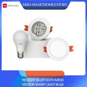 Image 1 - Xiao mi mi jia yeelight بلوتوث شبكة نسخة مصباح إضاءة ذكي والنازل ، الأضواء تعمل مع بوابة yeelight إلى التطبيق المنزلي mi