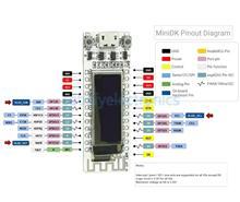 ESP8266 واي فاي رقاقة 0.91 بوصة OLED CP2014 32Mb فلاش ESP 8266 وحدة إنترنت الأشياء مجلس PCB ل NodeMcu