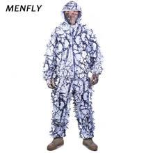 Охотничий костюм menfly для улицы с изображением снежных листьев