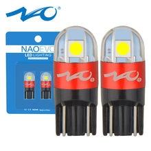 Светодиодная автомобильная лампа NAO T10 W5W 5W5 WY5W 12 в 6000K Автомобильные светодиодные лампы 3030 SMD Автомобильные аксессуары для чтения светильник ...