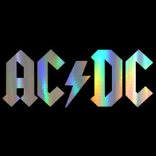 Car Sticker 3D AC/DC Cartoon Car Sticker and Decal Motorcycle Rear Window PVC Waterproof Sunscreen Decal Car Styling 30*11.6cm