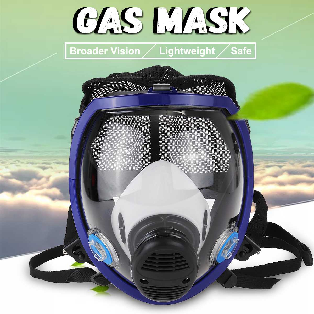 Full Face Chemical Mask Gas Mask Acid Dust Respirator Paint Pesticide Spray Silicone Filter Laboratory Welding