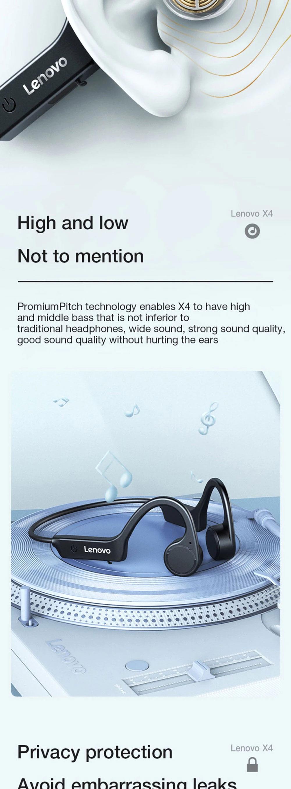 Lenovo X4 Wireless Bone Conduction Headset  6