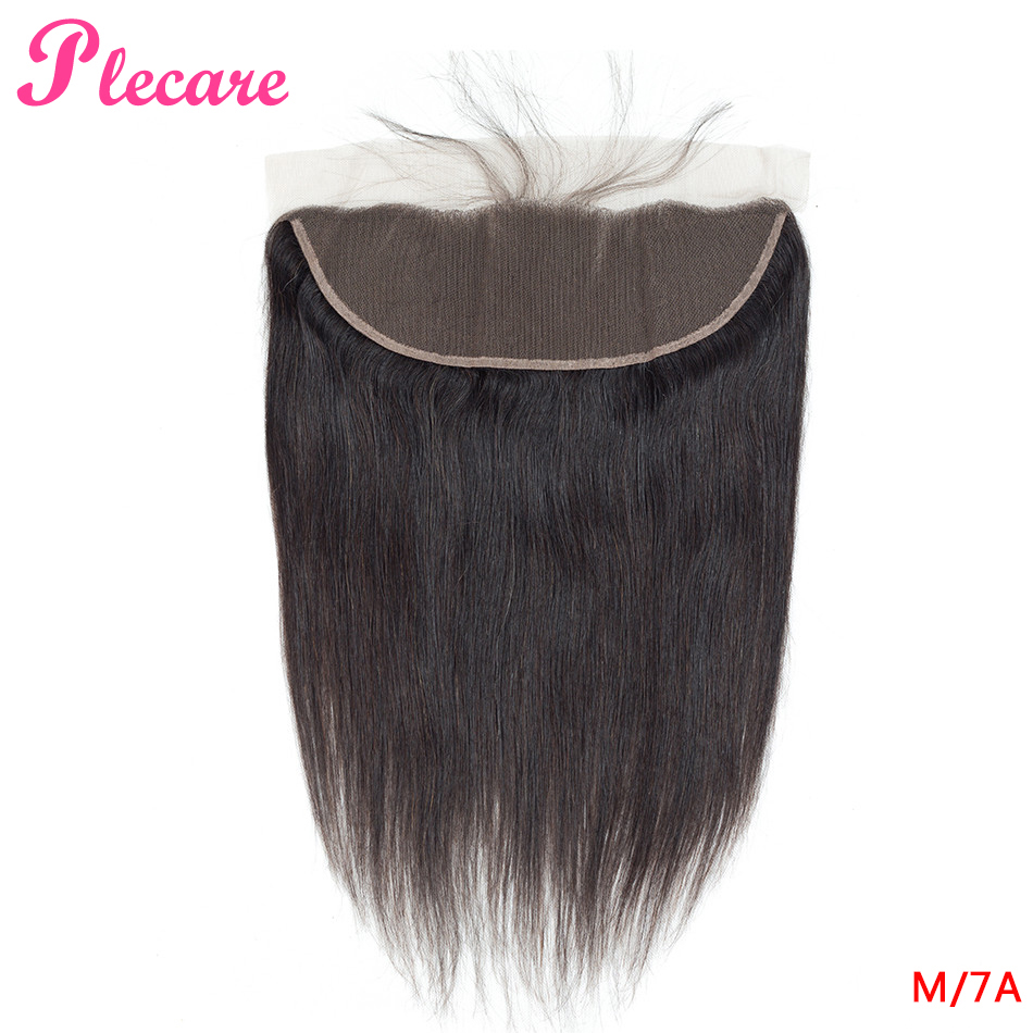 Plecare 13*4 Lace Frontal Brazilian Straight 8-20 Inch 1 Pcs Natural Color Middle Ratio Non-remy 100% Human Hair Extensions