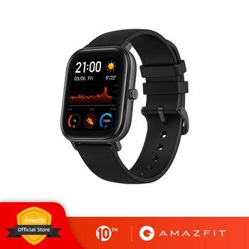 النسخة العالمية الجديدة Amazfit GTS ساعة ذكية 5ATM السباحة مقاوم للماء Smartwatch 14 أيام بطارية الموسيقى التحكم للهاتف شاومي IOS