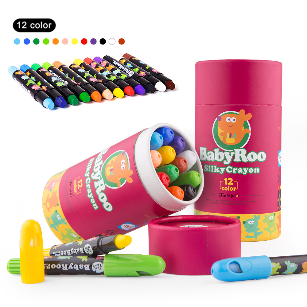 Wax Crayon Kids Oil Painting Stick Candy Color Oil Pastel Crayon Washable Child Safety Non-toxic Pastel 6/12 Colors Per Box