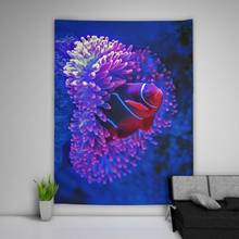 Coral Fish Wall Hanging Tapestry Psychedelic Bedroom Home Decoration(China)