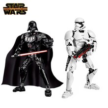 Disney Star Wars Buildable Figures Darth Vader Stormtrooper Kylo Ren Sith Trooper Boba Fett Action Figure Model Toy Kids Gifts saintgi saintgi star wars the force awakens kylo ren action figure pvc 16cm model toys kids gifts collection free shipping