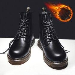 Vastwave microfibra antiderrapante inverno segurança trabalho sapato tornozelo botas para homens sapatos casuais homem motocicleta martin botas