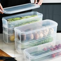 Rectangle Storage Bins Refrigerator Box Food Storage Containers Crisper Box with Lid for Kitchen Fridge Cabinet Desk Organizer|Bottles Jars & Boxes| |  -