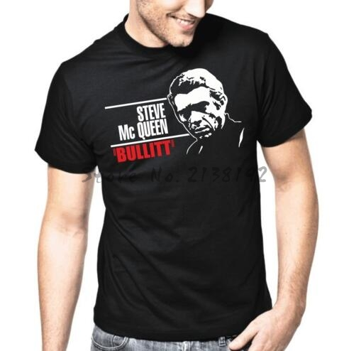 Steve <font><b>Mc</b></font> Queen | McQueen | Bullitt | TV | XS-XXXL <font><b>T</b></font>-<font><b>Shirt</b></font> men's top tees cotton <font><b>t</b></font>-<font><b>shirt</b></font> men summer fashion brand tee image