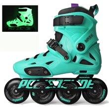 オリジナル2018 powerslide帝国蛍光灯プロスラロームインラインスケートローラー送料スケート靴スライドpatines