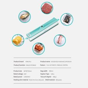 Image 4 - 2020 yeni vakumlama makinesi ev mutfak ekleyin 10 vakum torbaları, ev gıda paketleme makinesi