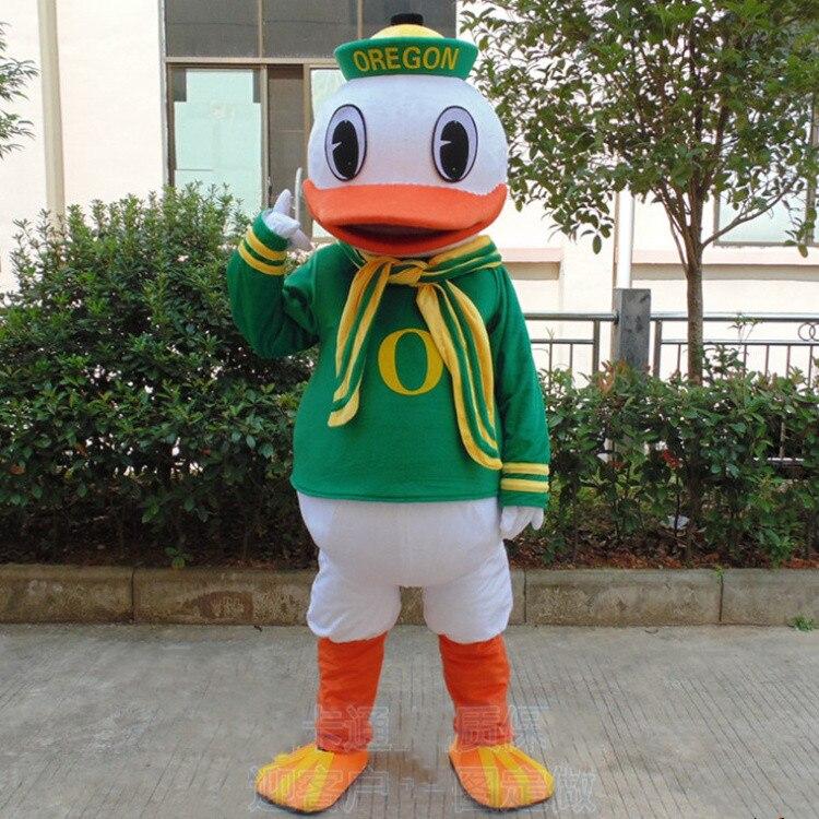 Costume de mascotte de canard Costume Cosplay partie jeu robe tenues vêtements pour la publicité carnaval Halloween noël pâques