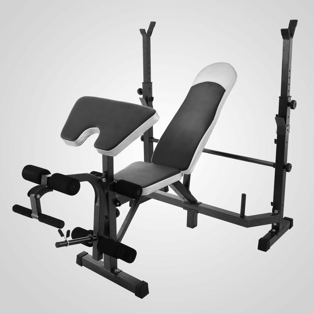 Weight Bench Set With Weights Home Gym Olympic Press Lifting Barbell Exercise  Bodybuilding, Fitness Gym Llllll Training Weight