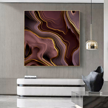 Abstract Canvas Painting Home Decor Poster and Print Living Room Bedroom Office Nordic Golden line Picture Wall Art Decoration nordic canvas painting abstract living room golden art wall pictures print bedroom dinning room home decor unframed poster art